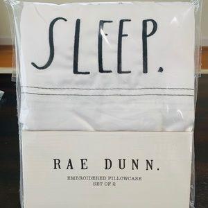 Rae Dunn SLEEP. Pillowcase set